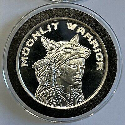 Indian Warrior Native American 1 Troy Oz .999 Fine Silver Round Coin Ingot Medal