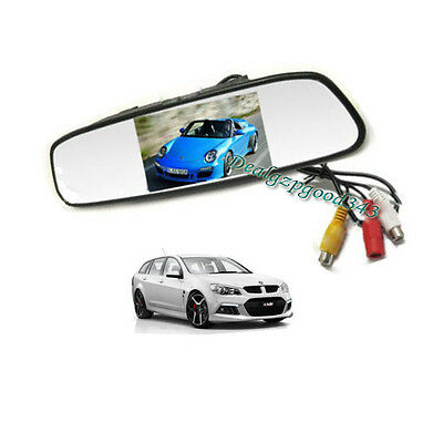 "4.3"" TFT LCD Car Rear View Mirror Monitor For Reversing Camera Kit & DVD VCR New"