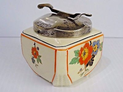 SOS Pascalls patents tongs on a cracked Lancaster Potterys Sugar bowl 1920's 30'