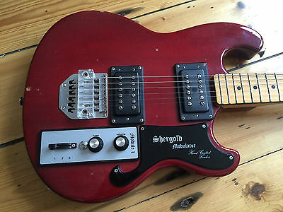 Shergold Modulator Electric Guitar 1980 British Made Rare