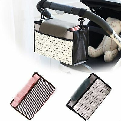 Useful Hanging Storage Bag Cup Food Holder Baby Product Stroller Organizer