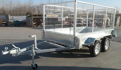 Trailer, 8 x 5 galvanized, Duel axle 2000 Kg including cage & spare