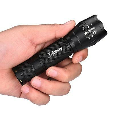 8000Lm Xml T6 Tactical Torch+Pouch+18650 Battery+Charger+Free Usb Charger+2*aa