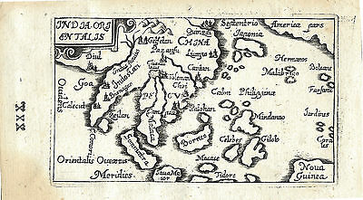 Uncommon original antique map of Southeast Asia from 1658 by Gabriel Bucelin