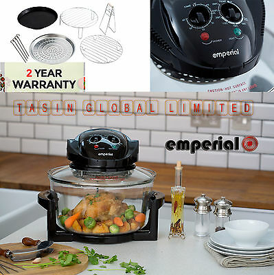 17L Halogen Convection Oven Cooker Extender Ring Grill Air Fryer & Accessories