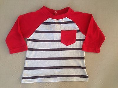 Pumpkin Patch Baby Boy Long Sleeve Top Size 00 (3-6 Months)
