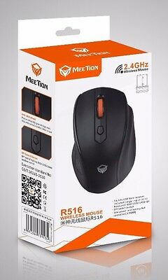Wireless Mouse - 2.4GHz technology, Adjustable Resolution 800/1200/1600 dpi