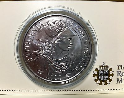 2010 Royal Mint Britannia 2 Pound 1oz Silver Bullion Coin Brilliant Uncirculated