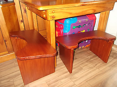 Two Quality Wooden Stool Style Kids Chairs