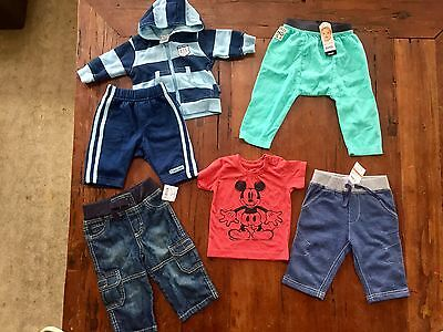 Brand New Awesome Baby Boy's Clothing Bundle x 6 Items   Sz 0-6 Months