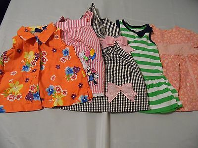 Girls Lot Of Summer Dress/Tops by Disney/Bonnie Baby/Carters/Size 12 Months