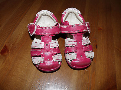 Clarks First Shoes Softly Palm Pink Baby Girls Sandals 3.5 F