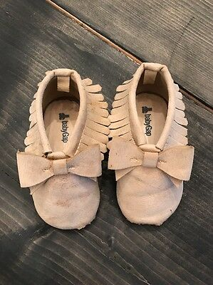 Baby Gap Girl Moccasins Shoes Size 18-24 Months