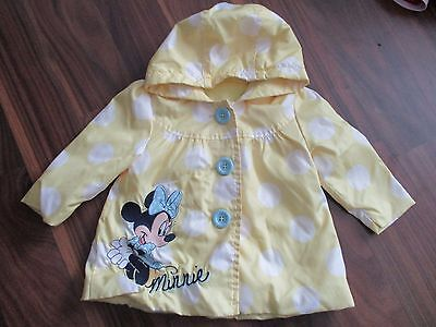 Girls MINNIE MOUSE Spring Summer anorak jacket coat 3-6 months VGC