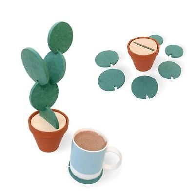 Table Decoration Nonslip Pad Heat Insulation Cup Mat Cactus Potted Coasters