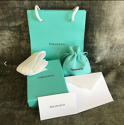 Tiffany & Co NEW Empty Blue Box Suede Pouch Gift Bag Satin Ribbon