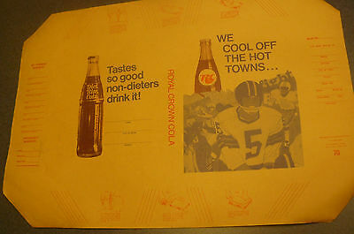 Vintage unused  RC Cola AD High School Football  Paper Walraven Book Cover