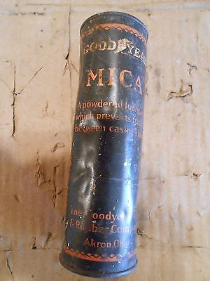 USED Goodyear MICA Powdered Tire Lubricant Can.