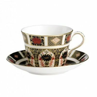 Royal Crown Derby 1st Quality Old Imari 1128 Tea Cup & Saucer