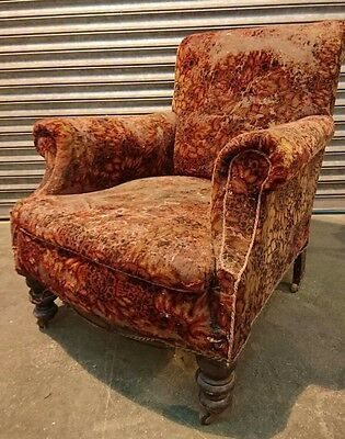 Antique Circa 1900 Victorian Armchair Easy Chair Reupholstery Project