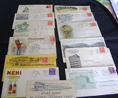 Antique Advertising Envelopes Early 1900's