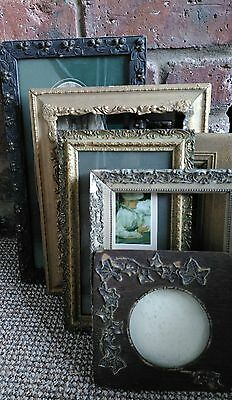 Job Lot of Seven Antique Picture Frames Architectural Salvage Barn Find.