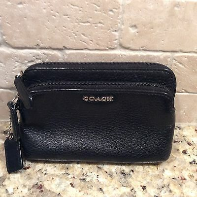 Coach Wristlet, Black Leather, Great Condition
