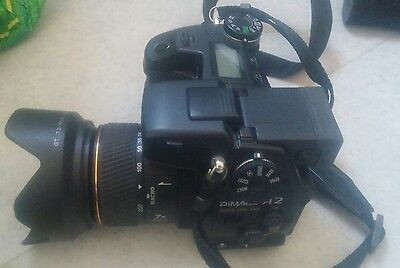 Konica Minolta DiMAGE A2 8.0MP Digital SLR Camera - Black lence 7.2-50.8mm