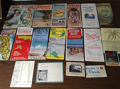 Vtg Lot 1950's 60's 70's 80's Florida Road Maps Gasoline Brochures Attractions