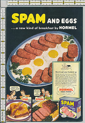 Hormel SPAM back cover of 1941 magazine print ad