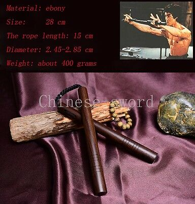 Bruce lee's shuangjieao Ebony material  Combat and martial arts performance