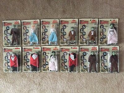 """The Munster's Classic TV Toys 8"""" Action Figures Set of 12 Figures MIB 2004"""
