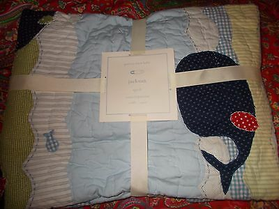 Pottery Barn Kids Jackson Whale Crib Quilt, Toddler, New