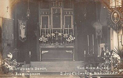 Warwickshire - BIRMINGHAM, St Jude's Church, Interior View of Altar - Real Photo
