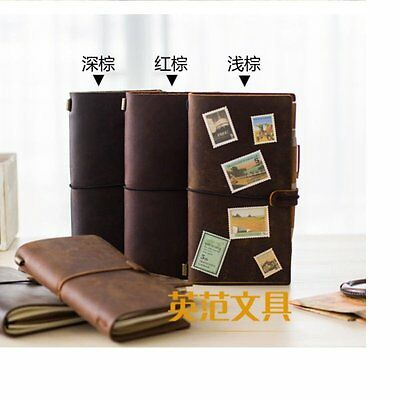 Leather Retro Travel Hand Notebook Journal Diary Blank Book Notebook Writing