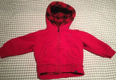 Brand new baby boy's 'Hurley' red hoodie, 18months