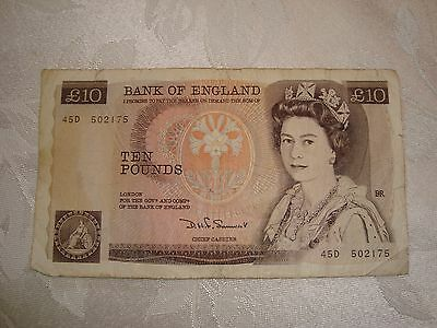 Great Britain 10 pounds P379b (1980-84) Circulated Banknote - Somerset