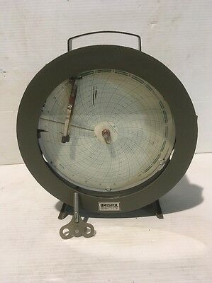 BRISTOL'S THERMO HUMIDIGRAPH CHART RECORDER MODEL 4069TH With Key