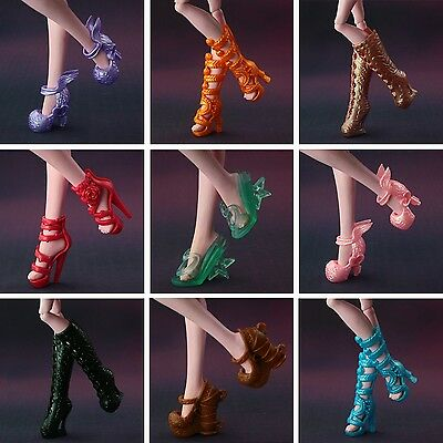 10 Pairs Shoes Lot Random Boots for Monster High Doll Accessories Dolls Clothes