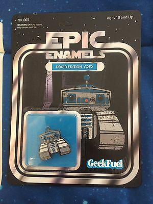 Geek Fuel Epic Enamels Pins Droid Edition, He-Bot, Stranger Edition Collectibles
