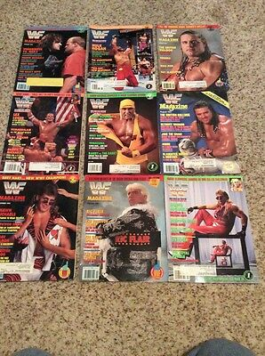 WWF World Wrestling Federation Magazine Lot Of 9 From The 90's