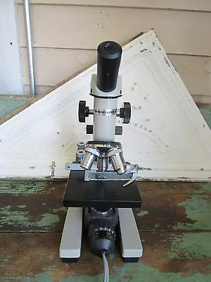Vintage Bausch & Lomb  Microscope  Electrical  31-71-36 With Cover