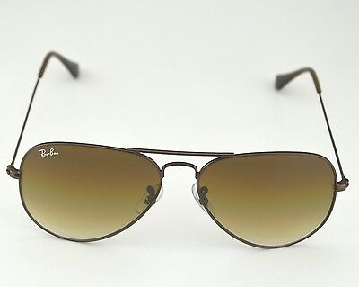 Ray Ban RB 3025 Aviator Gradient 014/51 Brown Frame/ Light Brown Gradient Glass