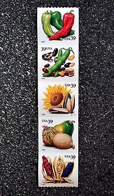 2006USA #4003-4007 39c Crops of the Americas - PNC Coil Strip of 5  Mint