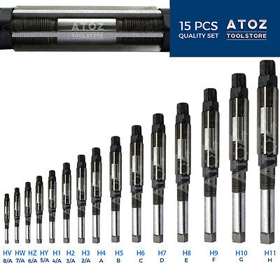 "Atoz Expanding Adjustable Hand Reamer 15 Pcs Set HV - H11 1/4 -1.1/16 "" Leader"