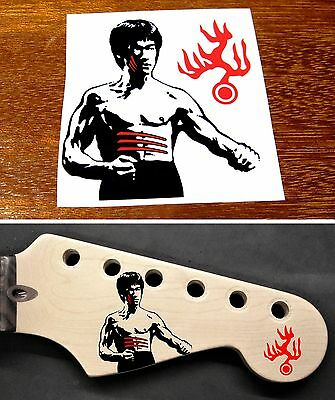 Bruce Lee Headstock Decal Waterslide Strat Stratocaster MIJ Enter the Dragon
