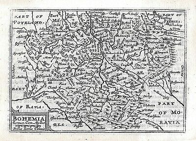 Antique map of Bohemia in the Czech Republic from 1650 by Pieter van den Keere