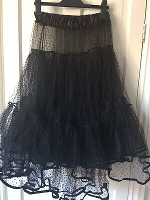 Ladies Collectif Vintage Style Petticoat Black One Size Fits 6-22 BNWOT