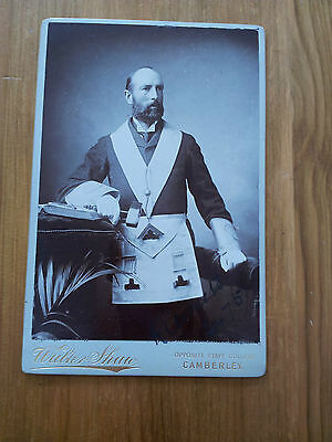 Antique masonic Cabinet Photograph (Signed) Of R Clemetson C 1901