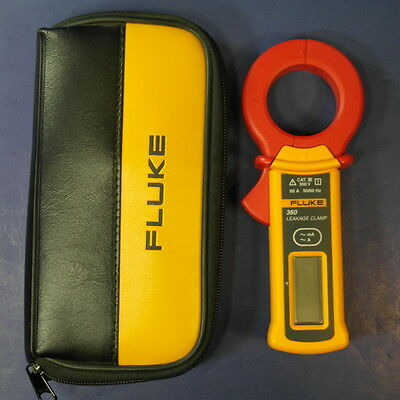Brand New Fluke 360 Leakage Current Clamp Meter 1uA to 60A AC, Case